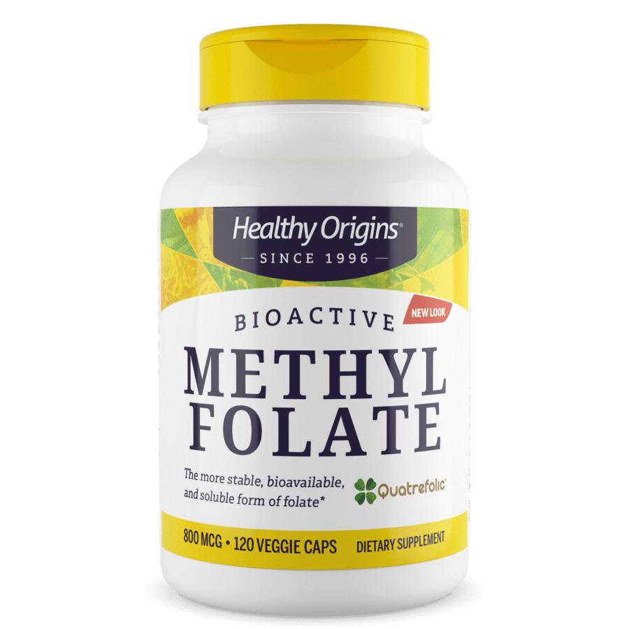 Метилфолат, Methyl Folate, Healthy Origins, 800 мкг, 120 капсул