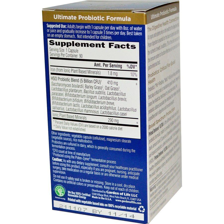 Пробиотическая формула ультра, Probiotic Formula, Garden of Life, 90 капсул