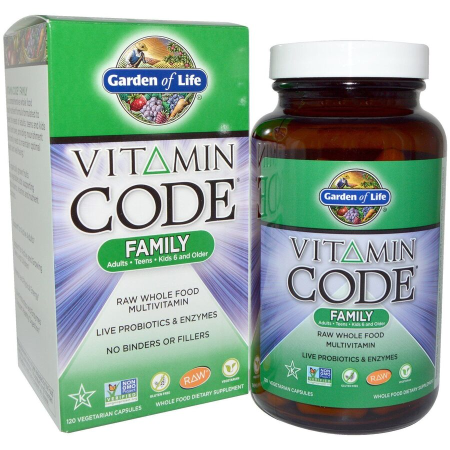 Мультивитамины, Garden of Life, для всей семьи, 120 капсул
