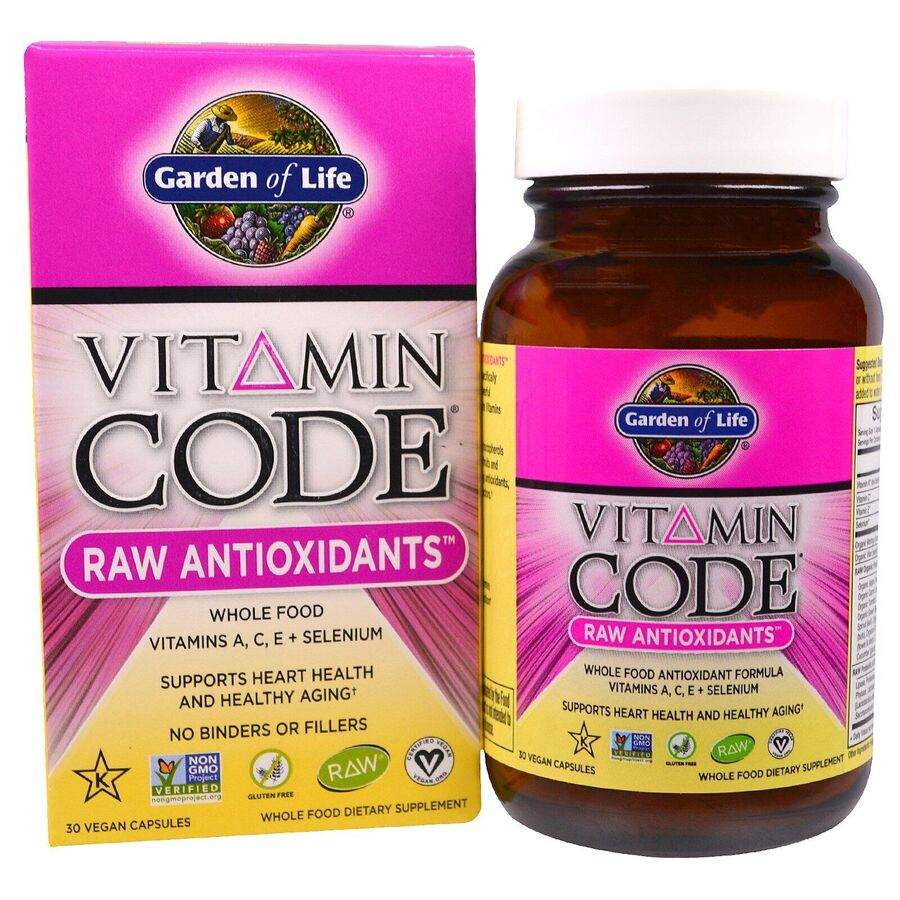 Сырые Витамины, Антиоксиданты, Garden of Life, 30 капсул