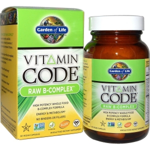 Сырые Витамины, B-комплекс, Garden of Life, 60 кап.