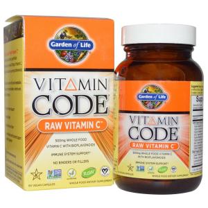 Сырой Витамин С, Garden of Life, 60 капсул