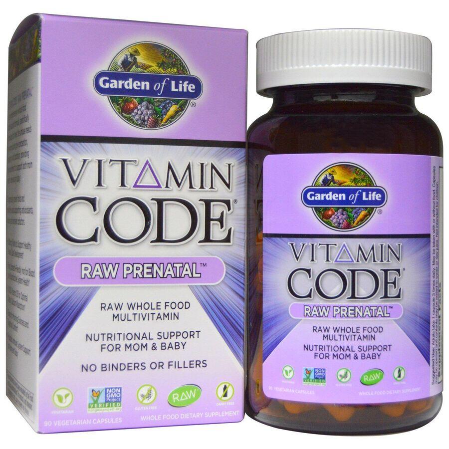 Витамины для беременных, Garden of Life, 90 капс.