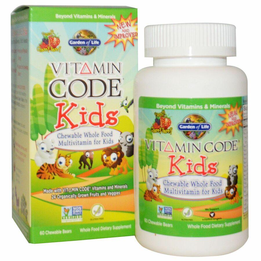 Витамины для детей (Multivitamin for Kids), Garden of Life, желатиновые мишки, 60шт