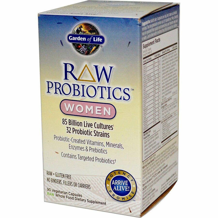 Пробиотики для женщин, Probiotics, Women, Garden of Life, 90 капсул