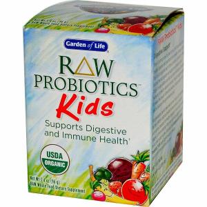Сырые пробиотики для детей, RAW Probiotics, Garden of Life, 97 г