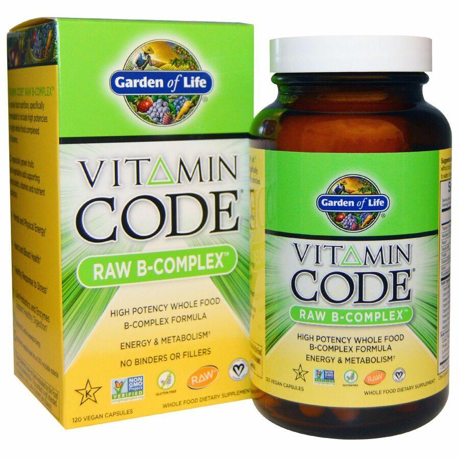 Сырые Витамины, B-комплекс, Garden of Life, 120 кап.
