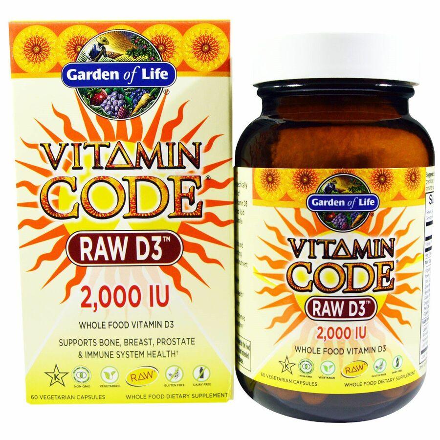 Сырые Витамины Д3, 2000 МЕ, Garden of Life