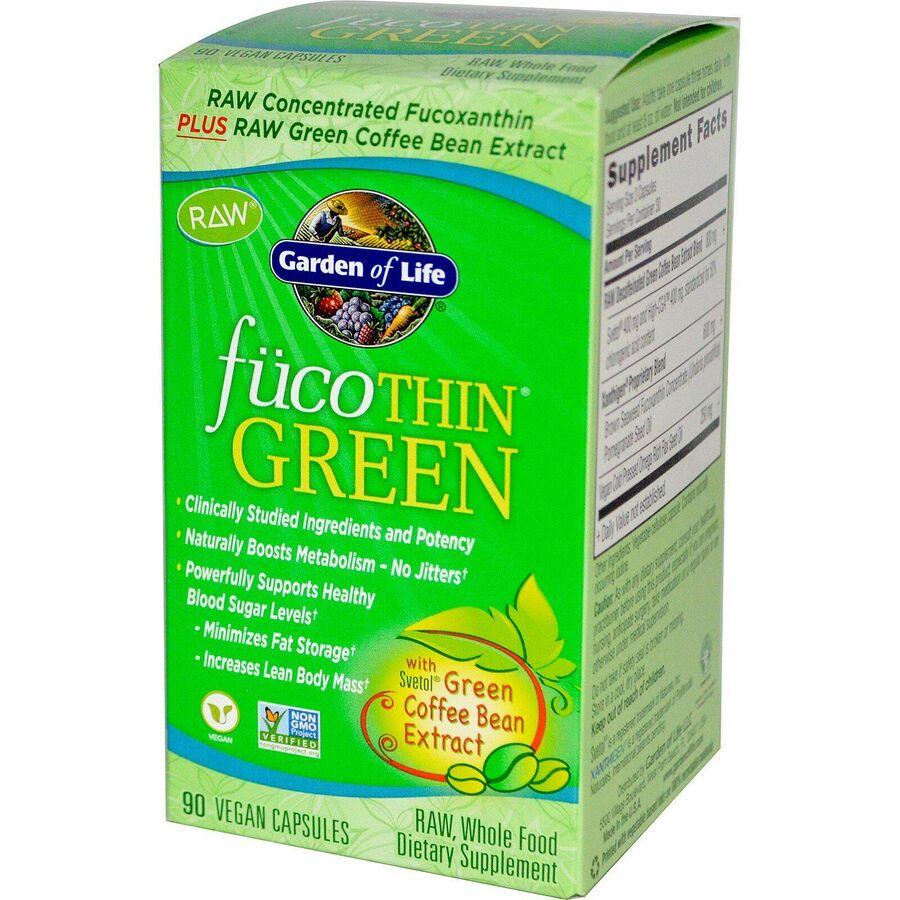 Жиросжигатель, Garden of Life, Зеленый кофе, 90 капс.