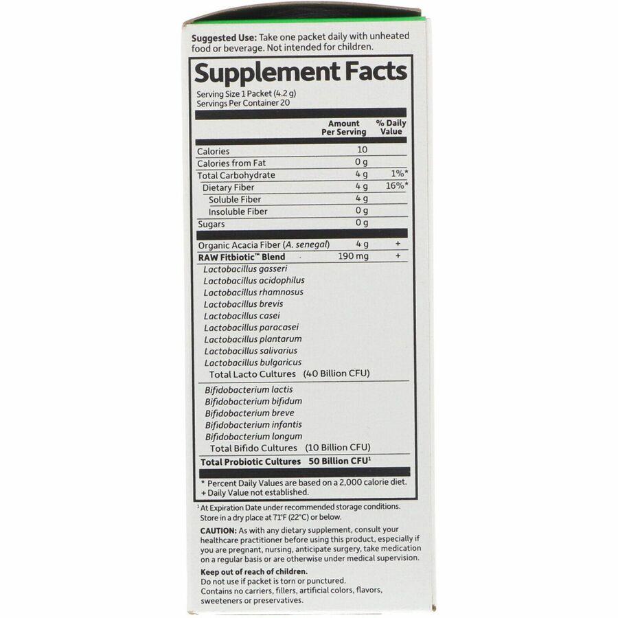 Пробиотики, Probiotics Fitbiotic, Garden of Life, органик, 20 пакетиков по 4,2 г