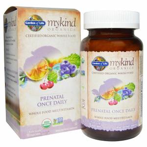 Витамины для беременных, Prenatal Once Daily, Garden of Life, Mykind Organics, 90 таблеток