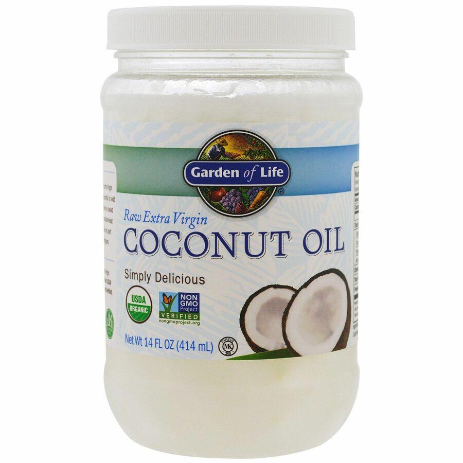 Кокосовое масло, Coconut Oil, Garden of Life, 414 мл