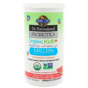 Пробиотики + витамины для детей, Probiotics + Vitamins C & D, Garden of Life, 30 жевательных конфет