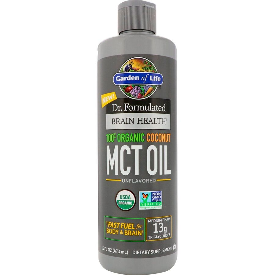 Масло MCT, Coconut MCT Oil, Garden of Life, 473 мл