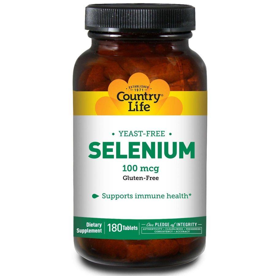 Селен (Selenium), Country Life, 100 мкг, 180 таблеток