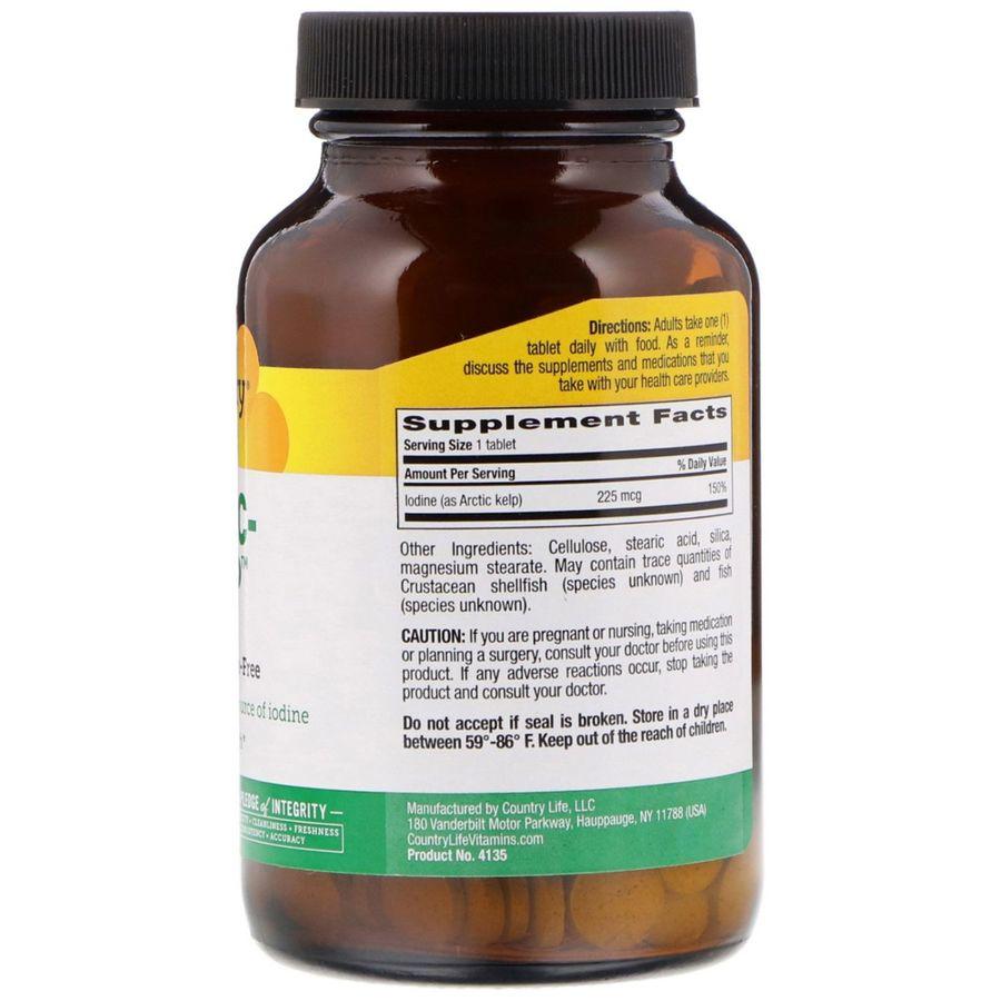 Йод, Country Life, 225 мкг, 300 таблеток