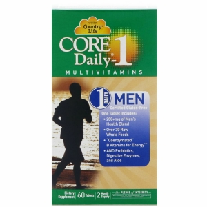 Витамины для мужчин, Core Daily-1 for Men Multivitamins, Country Life, 60 таблеток