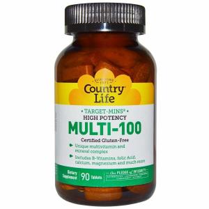 Высокоэффективный Mульти-100, Country Life, 90 таблеток