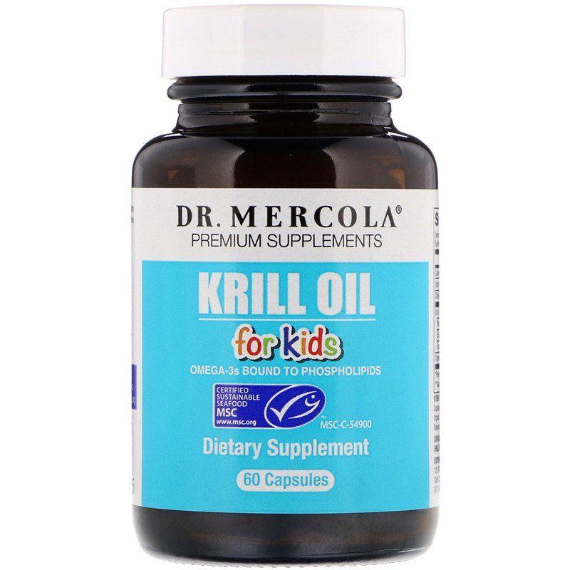Масло криля для детей,  Dr. Mercola, 60 капсул