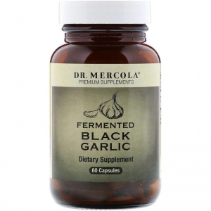Ферментированный чёрный чеснок, Dr. Mercola, 60 капсул