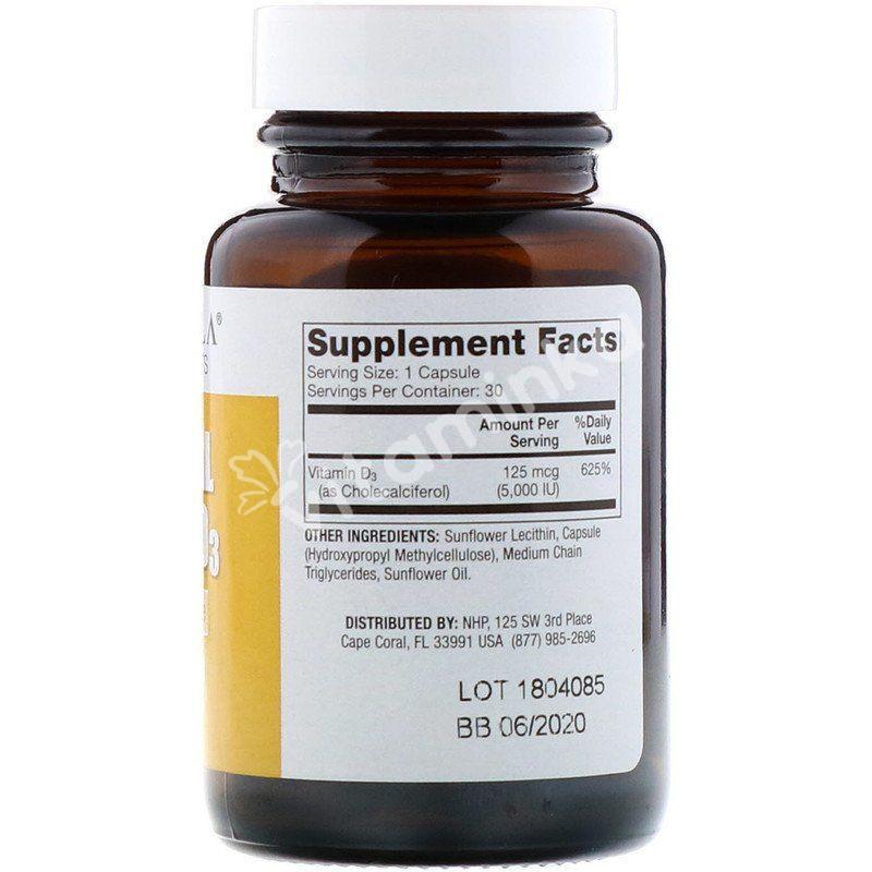 Витамин Д, Liposomal Vitamin D, Dr. Mercola, 5000 МЕ, 30 капсул