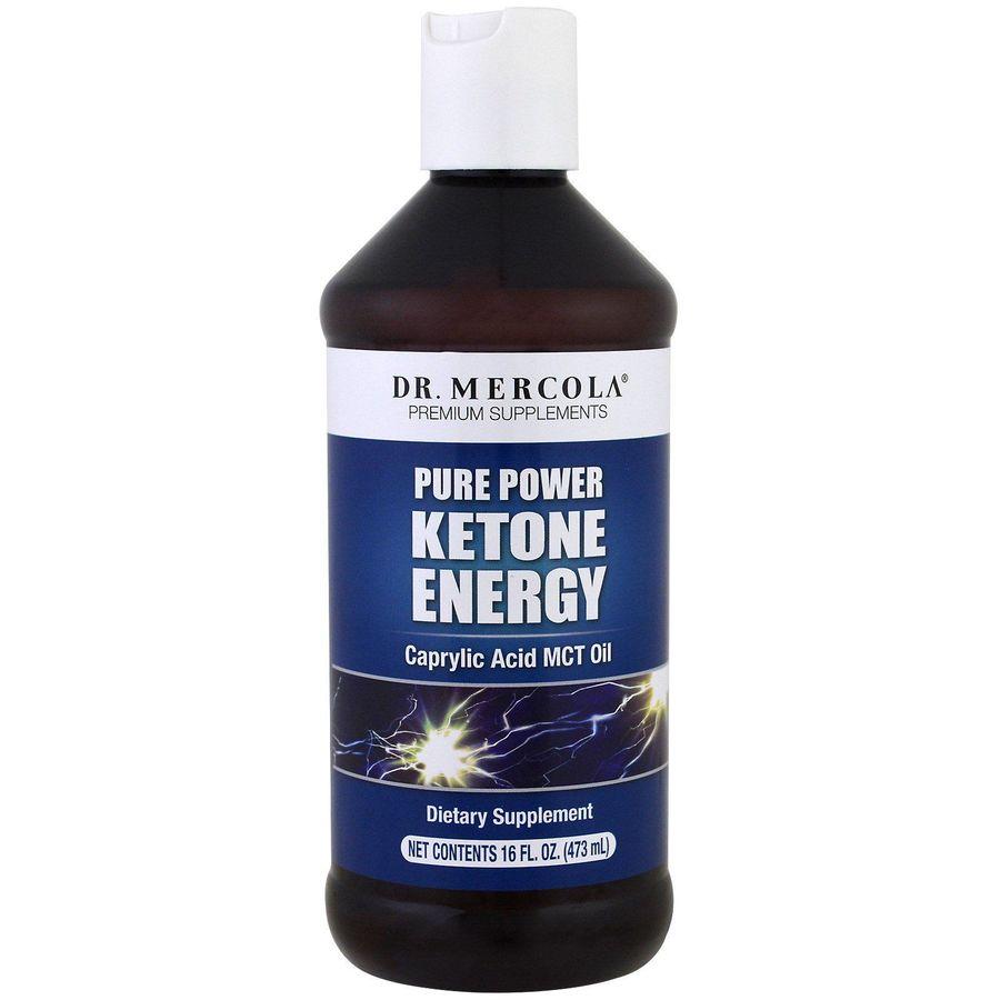 Кокосовое масло MCT, Ketone Energy, Dr. Mercola, 473 мл