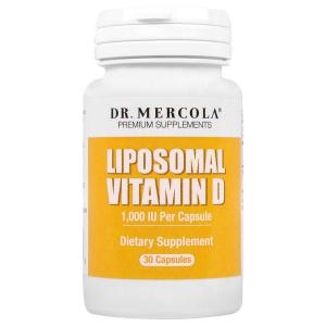 Витамин Д липосомальный, Liposomal Vitamin D, Dr. Mercola, 1000 МЕ, 30 капсул