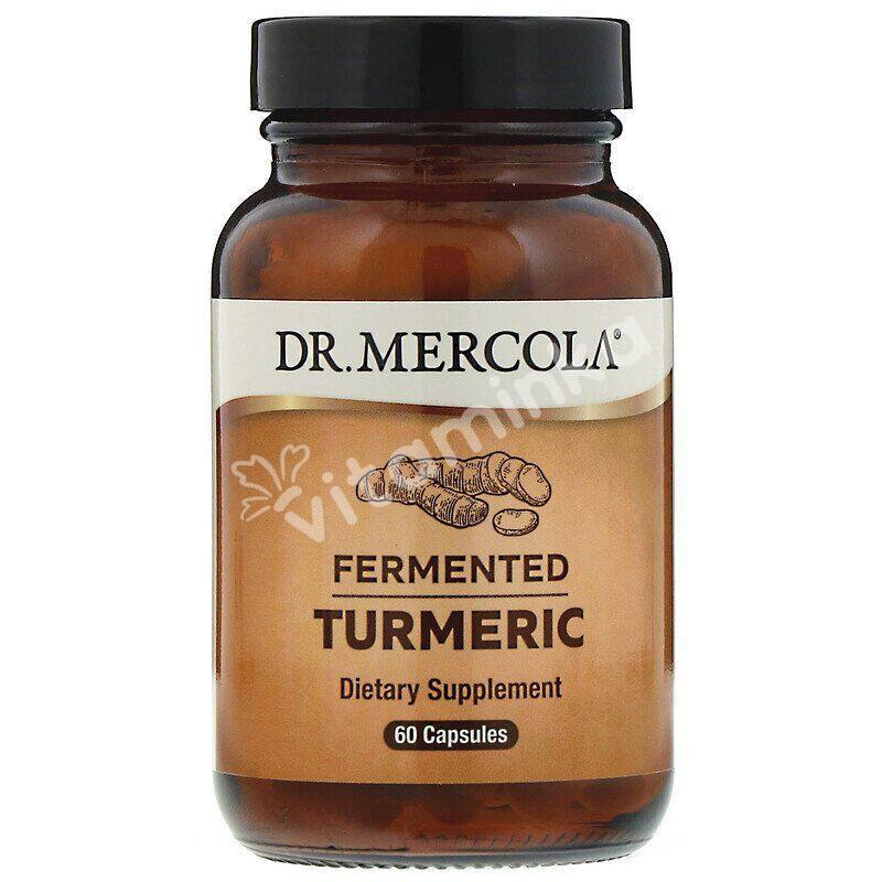 Куркума ферментированная, Fermented Turmeric, Dr. Mercola, 60 капсул