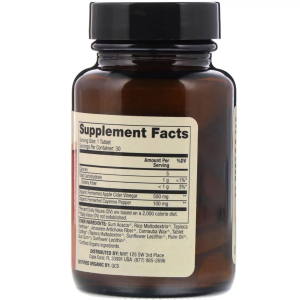 Яблочный уксус и кайенский перец, Apple Cider Vinegar Cayenne, Dr. Mercola, 30 таблеток