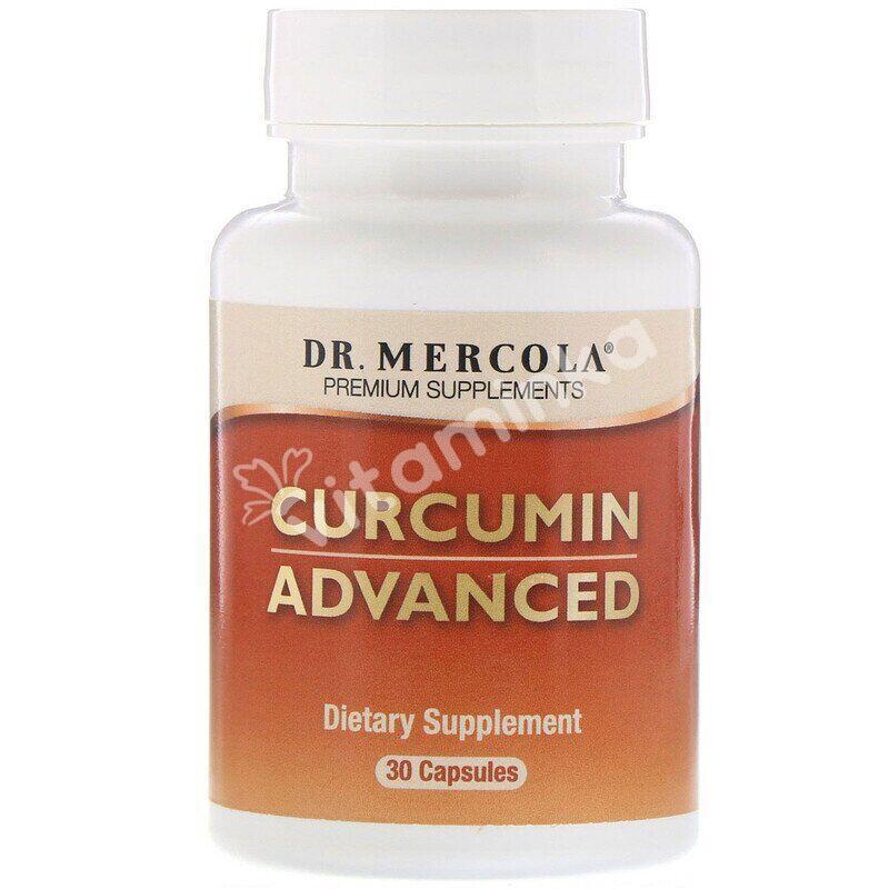 Куркумин, Curcumin Advanced, Dr. Mercola, 500 мг, 30 капсул