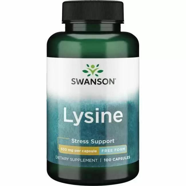 Лизин, L-LYSINE, ANSON FREE-FORM, Swanson,  100 капсул