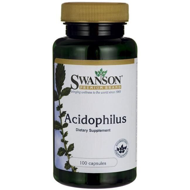 Ацидофильные лактобактерии, Acidophilus, Swanson, 100 капсул