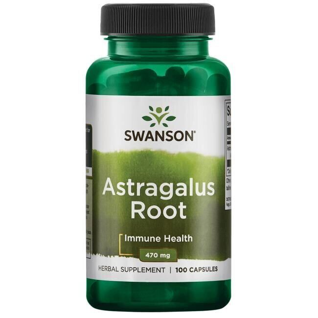 Астрагал, корень, Astragalus Root, Swanson, 470 мг, 100 капсул