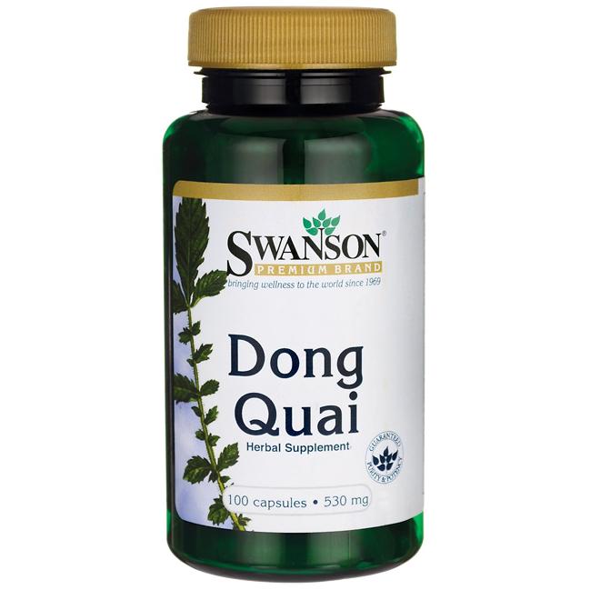 Донг Квай, корень, Dong Quai Root, Swanson, 530 мг, 100 капсул