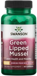 Зеленые мидии, Green Lipped Mussel, Swanson, 500 мг, 60 капсул
