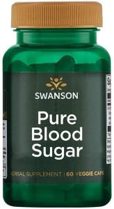 Контроль уровня сахара в крови, Pure Blood Sugar, Swanson, 60 вегетарианских капсул