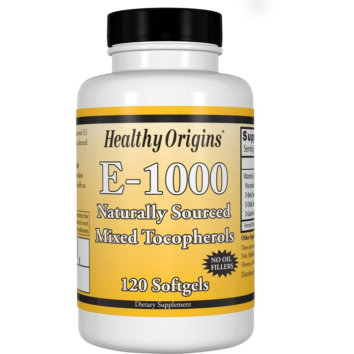 Витамин Е, Vitamin E, Healthy Origins, 1000 МЕ