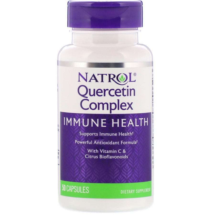 Кверцетин комплес (Quercetin), Natrol, 500 мг, 50 капсул, Natrol