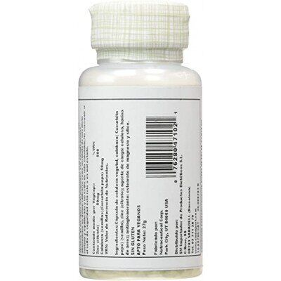 Цинк цитрат, Zinc Citrate, Solaray, 50 мг., 60 вег. капсул