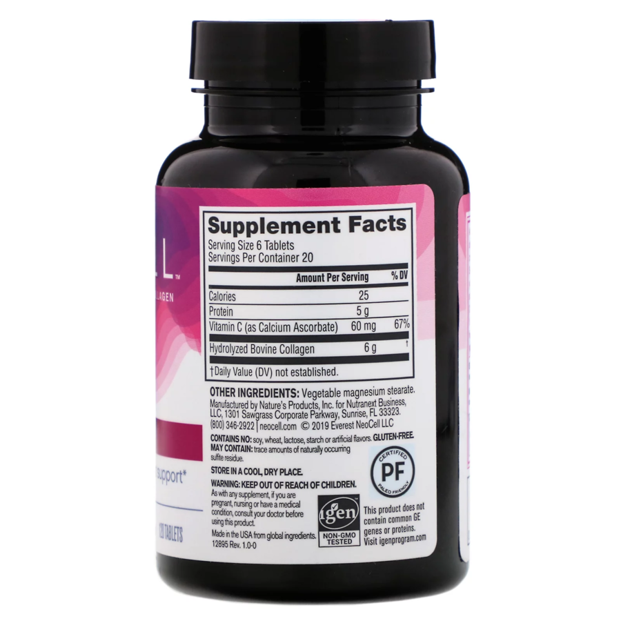 Супер Коллаген, Тип 1 и 3, Collagen+C, Neocell, 120 таблеток