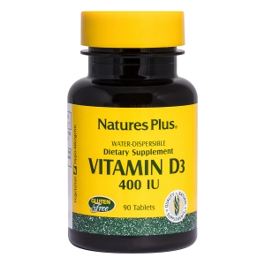 Витамин Д, Vitamin D, Nature's Plus, 400 МЕ, 90 таблеток