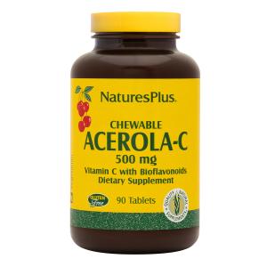 Витамин С жевательный (ацерола- с), Nature's Plus, 90 таблеток