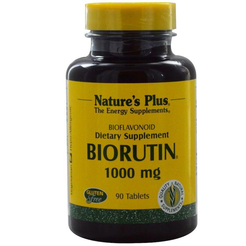 Рутин, Biorutin, Nature's Plus,1000 мг, 90 таблеток