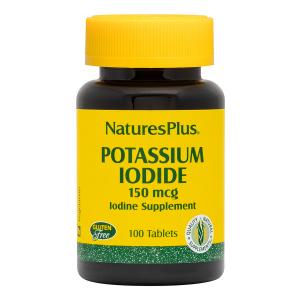 Йод, Potassium Iodide, Nature's Plus, 150 мкг, 100 таблеток