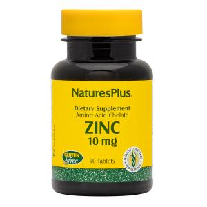 Цинк в таблетках, Nature's Plus, 10 мг, 90 таблеток