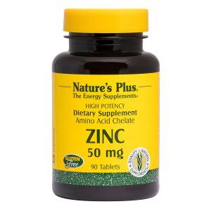 Цинк в таблетках, Nature's Plus, 50 мг, 90 таблеток