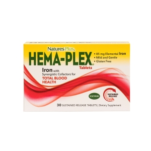 Комплекс витаминов и минералов, Hema-Plex, Nature's Plus, 30 таблеток