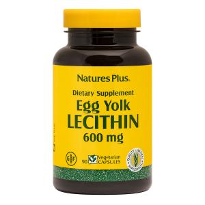 Лецитин, Яичный желток, Egg Yolk Lecithin, Nature's Plus, 600 мг, 90 капсул