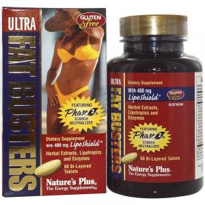 Жиросжигатель, Ultra Fat Busters, Nature's Plus, 60 таблеток