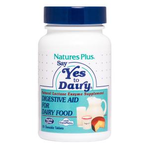 Фермент лактаза, Lactase enzymes, Nature's Plus, 50 жевательных таблеток